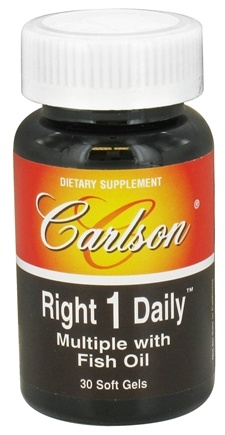 DROPPED: Carlson Labs - Right 1 Daily Multiple Vitamin With Fish Oil - 30 Softgels CLEARANCED PRICED