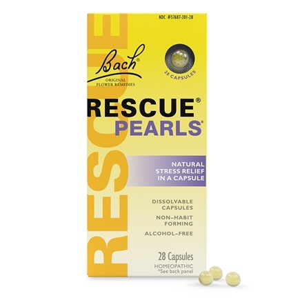 Bach Original Flower Remedies - Rescue Pearls - 28 Capsules