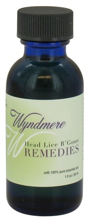 DROPPED: Wyndmere Naturals - Aromatherapy Remedies Head Lice B'Gone - 1 oz. CLEARANCED PRICED