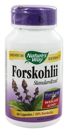 Nature's Way - Forskohlii Standardized 20% Forskohlin - 60 Vegetarian Capsules