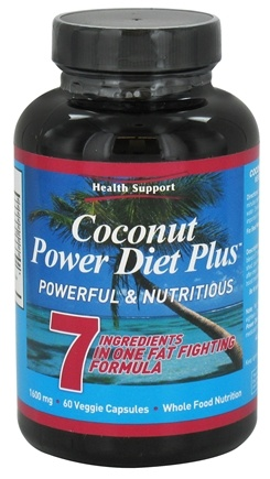 DROPPED: Health Support - Coconut Power Diet Plus 1320 mg. - 60 Vegetarian Capsules CLEARANCED PRICED