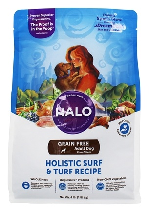 Halo Purely for Pets - Spot's Stew For Dogs Grain Free Hearty Surf n' Turf Recipe - 4 lbs.