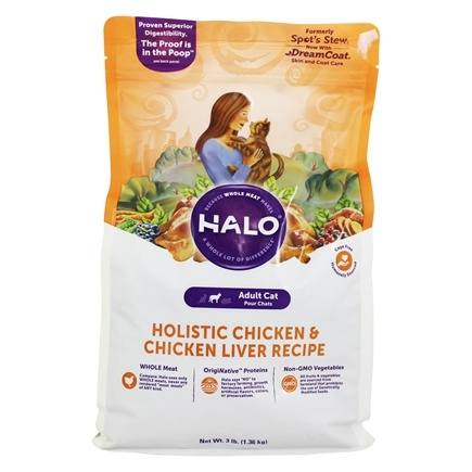 DROPPED: Halo Purely for Pets - Spot's Stew For Cats Wholesome Chicken Recipe - 3 lbs.