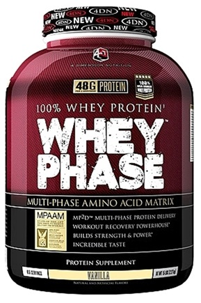 DROPPED: 4 Dimension Nutrition - 100% Whey Protein Whey Phase Vanilla - 5 lbs.