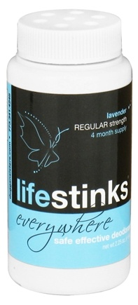 DROPPED: Duggan Sisters - LifeStinks Everywhere Deodorant Powder Regular Strength Lavender - 2.25 oz. CLEARANCE PRICED