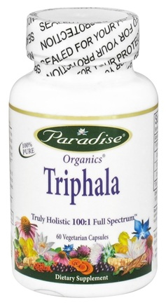 DROPPED: Paradise Herbs - Organics Triphala - 60 Vegetarian Capsules CLEARANCED PRICED