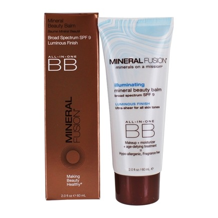 Mineral Fusion - BB Creme All-In-One Mineral Beauty Balm Illuminating Luminous Finish 9 SPF - 2 oz.