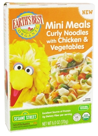 DROPPED: Earth's Best - Mini Meals Curly Noodles with Chicken & Vegetables - 6 oz. CLEARANCE PRICED