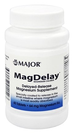 Major Pharmaceuticals - MagDelay 64 mg. - 60 Tablets