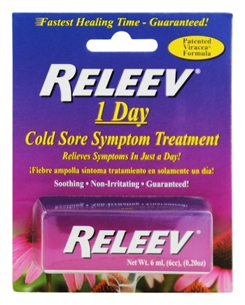 Releev - 1 Day Cold Sore Symptom Treatment - 0.2 oz.