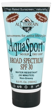 DROPPED: All Terrain - AquaSport Sunscreen Lotion 30 SPF - 6 oz. CLEARANCE PRICED