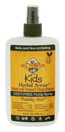 All Terrain - Herbal Armor Kids Insect Repellent Deet-Free Pump Spray - 8 oz.