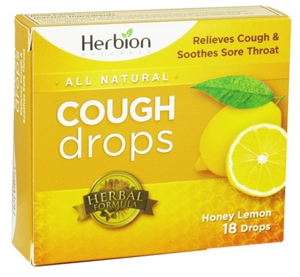 DROPPED: Herbion - All Natural Cough Drops Honey Lemon - 18 Drops CLEARANCED PRICED