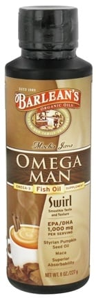 DROPPED: Barlean's - Omega Man Fish Oil Swirl Mocha Java - 8 oz. CLEARANCE PRICED