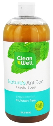 DROPPED: CleanWell - Nature's AntiBac Liquid Soap Peppermint - 32 oz.