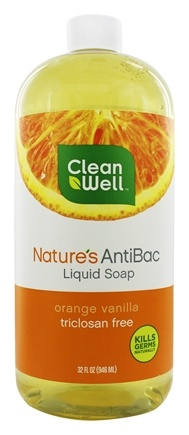 DROPPED: CleanWell - Nature's AntiBac Liquid Soap Orange Vanilla - 32 oz.