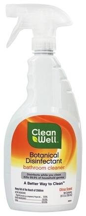 Buy cleanwell botanical disinfectant bathroom cleaner citrus scent 26 oz at for Cleanwell botanical disinfectant bathroom cleaner