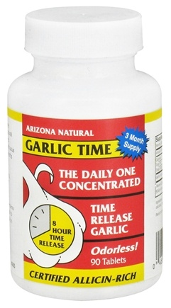 DROPPED: Arizona Natural - Garlic Time - 90 Tablet(s) CLEARANCE PRICED