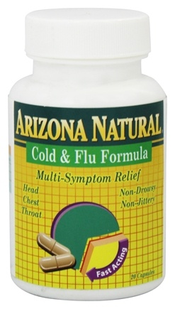DROPPED: Arizona Natural - Cold & Flu Formula - 20 Capsules CLEARANCED PRICED