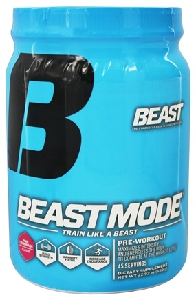 Dropped Beast Sports Nutrition Mode Pre Workout Pink Lemonade 45 Servings