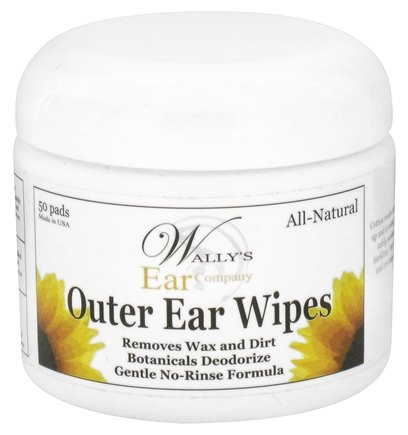 DROPPED: Wally's Natural Products - Outer Ear Wipes - 50 Pad(s) CLEARANCE PRICED