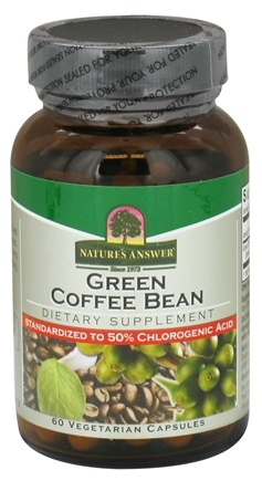 DROPPED: Nature's Answer - Green Coffee Bean 400 mg. - 60 Vegetarian Capsules CLEARANCE PRICED