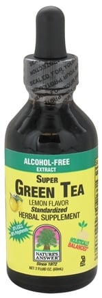 DROPPED: Nature's Answer - Super Green Tea Alcohol-Free Extract Lemon - 2 oz. CLEARANCE PRICED