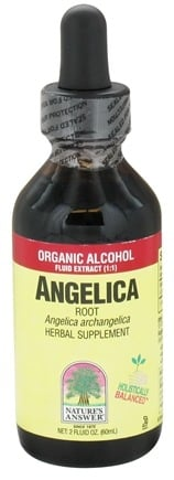 DROPPED: Nature's Answer - Angelica Root Organic Alcohol Extract - 2 oz. CLEARANCE PRICED