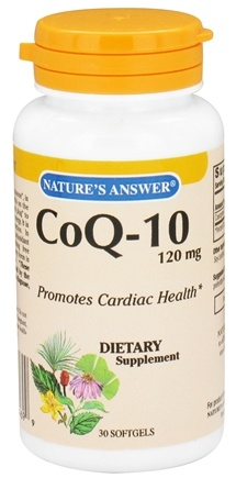 DROPPED: Nature's Answer - CoQ-10 120 mg. - 30 Softgels CLEARANCE PRICED