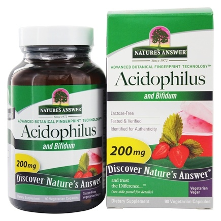 DROPPED: Nature's Answer - Acidophilus and Bifidum - 90 Vegetarian Capsules