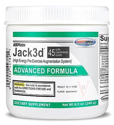 DROPPED: USP Labs - Jack3d Advanced Formula Watermelon 45 Servings - 230 Grams