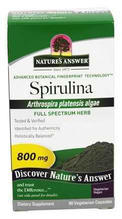 DROPPED: Nature's Answer - Spirulina Single Herb Supplement - 90 Vegetarian Capsules