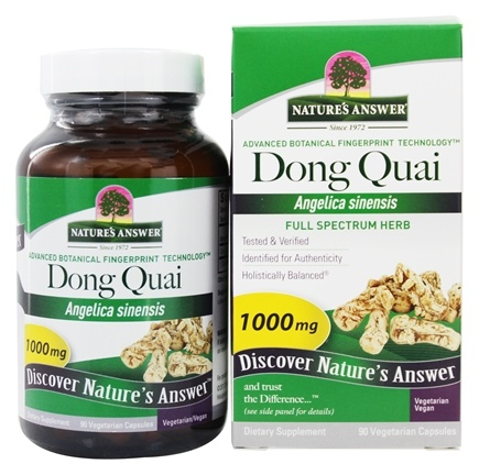 Nature's Answer - Dong Quai Root Single Herb Supplement - 90 Vegetarian Capsules