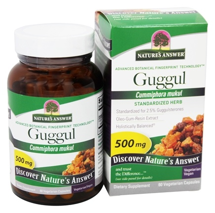 DROPPED: Nature's Answer - Guggul Oleo-Gum-Resin-Extract 2.5% Guggulsterones - 60 Vegetarian Capsules