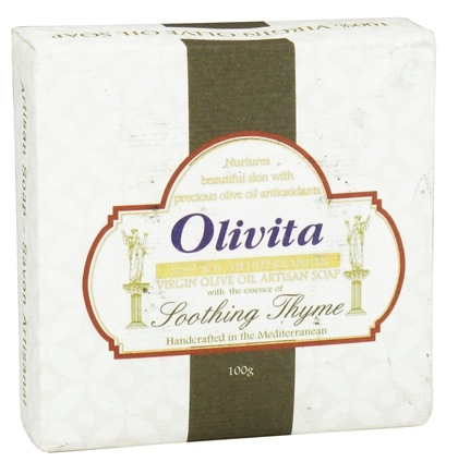 DROPPED: Olivita - Virgin Olive Oil Bar Soap Soothing Thyme - 3.5 oz. CLEARANCE PRICED