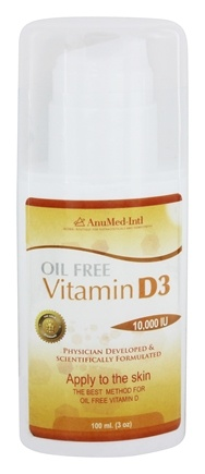AnuMed - Vitamin D3 Cream Oil Free 10000 IU - 3 oz.