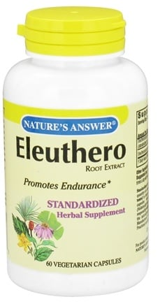 DROPPED: Nature's Answer - Eleuthero Root Extract - 60 Vegetarian Capsules CLEARANCE PRICED