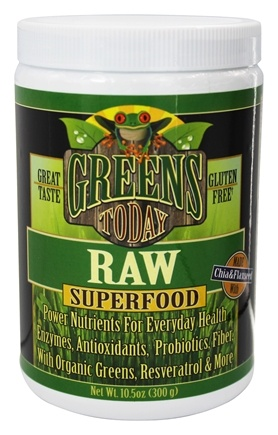 Greens Today - Gluten Free Raw Superfood - 10.5 oz.