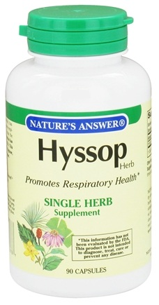 DROPPED: Nature's Answer - Hyssop Herb Single Herb Supplement - 90 Capsules CLEARANCE PRICED