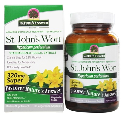 DROPPED: Nature's Answer - St. John's Wort Super Herb Extract - 60 Vegetarian Capsules