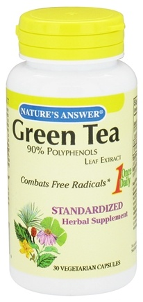DROPPED: Nature's Answer - Green Tea 90% Polyphenol Once Daily Leaf Extract - 30 Vegetarian Capsules CLEARANCE PRICED