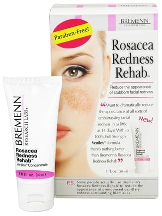 DROPPED: Bremenn Research Labs - Rosacea Redness Rehab Cream - 1 oz. CLEARANCE PRICED