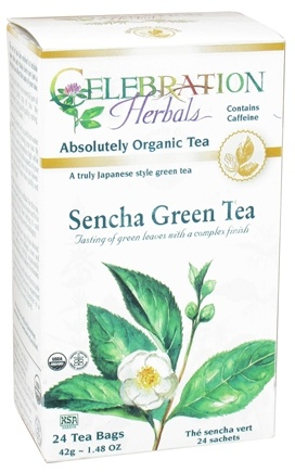 DROPPED: Celebration Herbals - Organic Sencha Green Tea - 24 Tea Bags CLEARANCE PRICED
