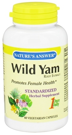 DROPPED: Nature's Answer - Wild Yam Once Daily Root Extract - 60 Vegetarian Capsules CLEARANCE PRICED