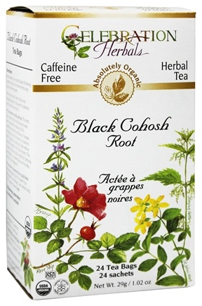 DROPPED: Celebration Herbals - Organic Caffeine Free Black Cohosh Root Herbal Tea - 24 Tea Bags CLEARANCE PRICED