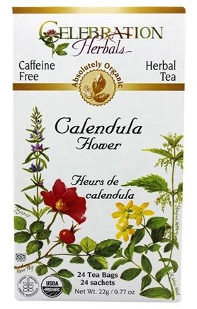 Celebration Herbals - Organic Caffeine Free Calendula Flower Herbal Tea - 24 Tea Bags