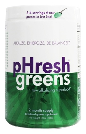 DROPPED: Phresh Products - Phresh Greens 100% Raw Organic Alkalizing Powdered Superfood - 10 oz.