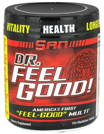 DROPPED: SAN Nutrition - Dr. Feel Good High Potency Complete Multivitamin & Mineral Formula - 224 Tablets CLEARANCE PRICED