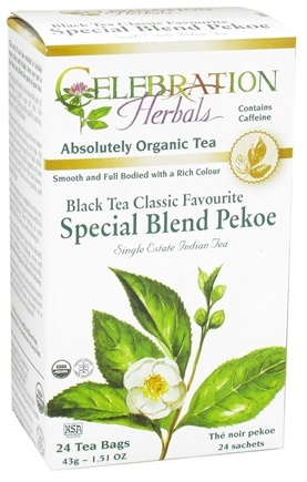 DROPPED: Celebration Herbals - Organic Special Black Tea Blend Pekoe - 24 Tea Bags CLEARANCE PRICED