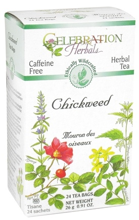 DROPPED: Celebration Herbals - Organic Caffeine Free Chickweed Herbal Tea - 24 Tea Bags